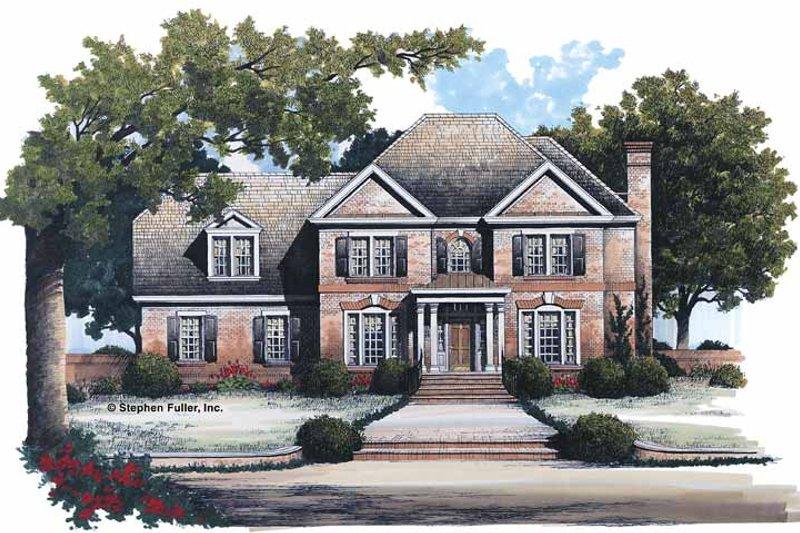 Colonial Exterior - Front Elevation Plan #429-110 - Houseplans.com