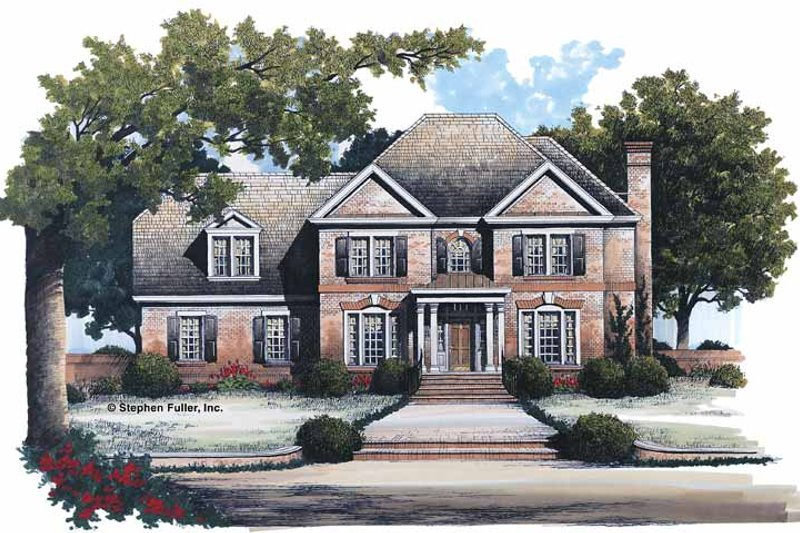 House Plan Design - Colonial Exterior - Front Elevation Plan #429-110