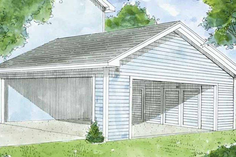 Exterior - Front Elevation Plan #410-3605 - Houseplans.com