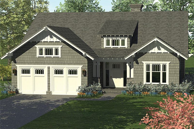 Craftsman Exterior - Front Elevation Plan #453-614