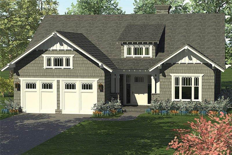 Dream House Plan - Craftsman Exterior - Front Elevation Plan #453-614