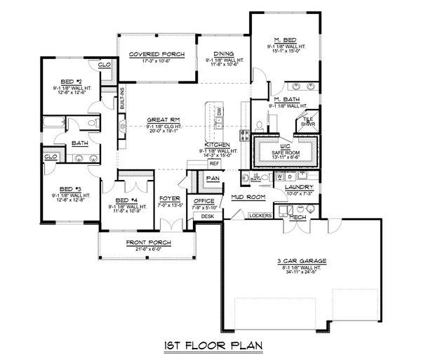 Home Plan - Farmhouse Floor Plan - Main Floor Plan #1064-124