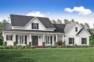 Ranch Exterior - Front Elevation Plan #1059-73
