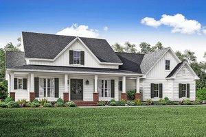 House Blueprint - Ranch Exterior - Front Elevation Plan #1059-73