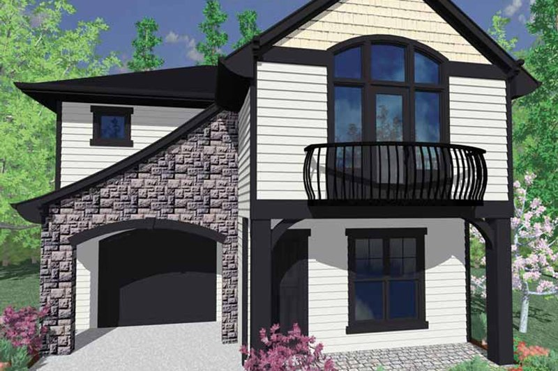 Traditional Exterior - Front Elevation Plan #509-196 - Houseplans.com