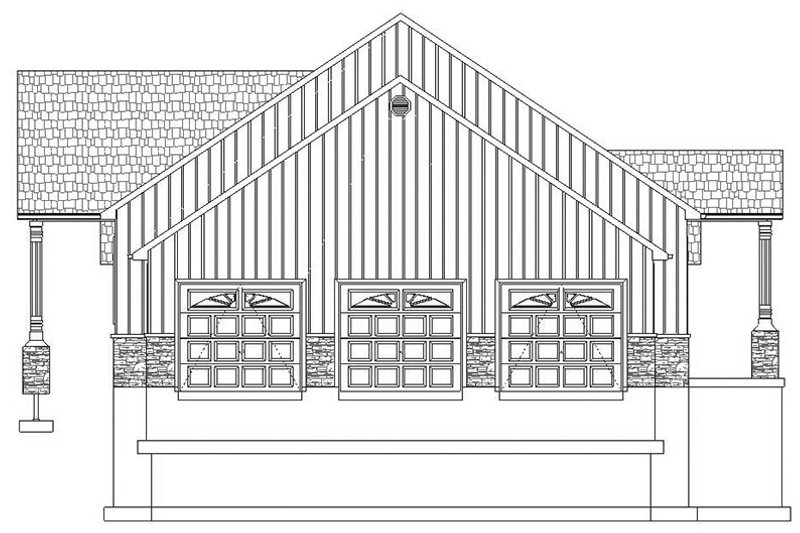 Ranch Exterior - Other Elevation Plan #1060-23 - Houseplans.com