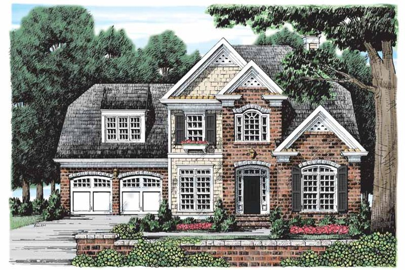 Traditional Exterior - Front Elevation Plan #927-909 - Houseplans.com