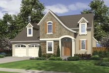Colonial Exterior - Front Elevation Plan #46-798