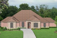 Mediterranean Exterior - Front Elevation Plan #84-599
