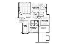 European Floor Plan - Upper Floor Plan Plan #1057-2