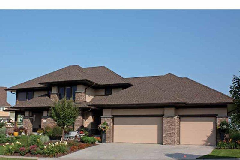 Prairie Exterior - Front Elevation Plan #51-1123 - Houseplans.com