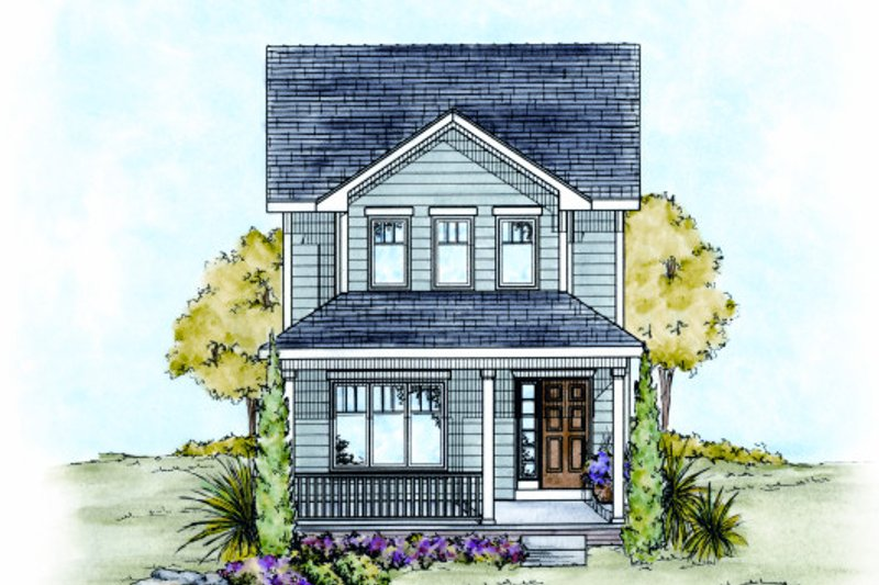 Traditional Exterior - Front Elevation Plan #20-2105 - Houseplans.com