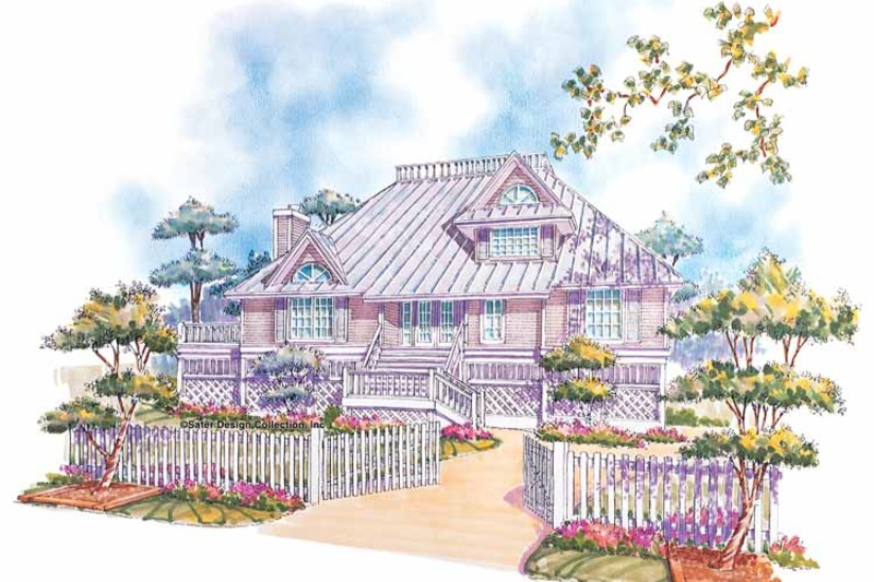 Country Exterior - Front Elevation Plan #930-28 - Houseplans.com