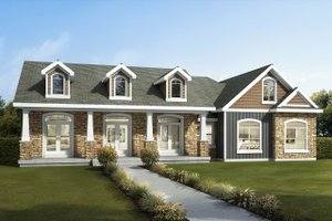 Dream House Plan - Craftsman Exterior - Front Elevation Plan #1073-13