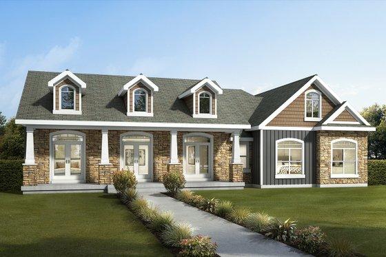 Craftsman Exterior - Front Elevation Plan #1073-13