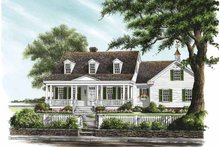 Home Plan - Traditional Exterior - Front Elevation Plan #137-322