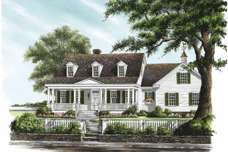 Traditional Exterior - Front Elevation Plan #137-322 - Houseplans.com