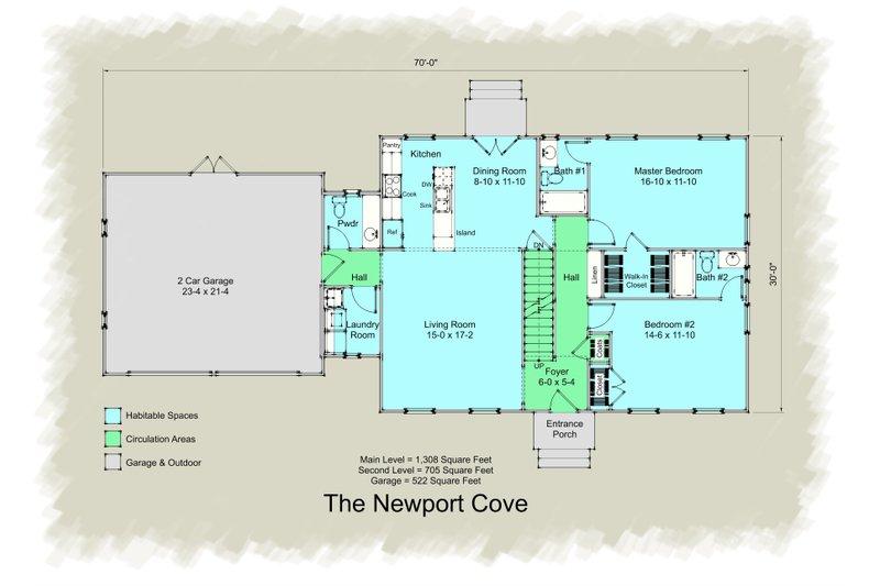 Colonial Floor Plan - Main Floor Plan Plan #489-8