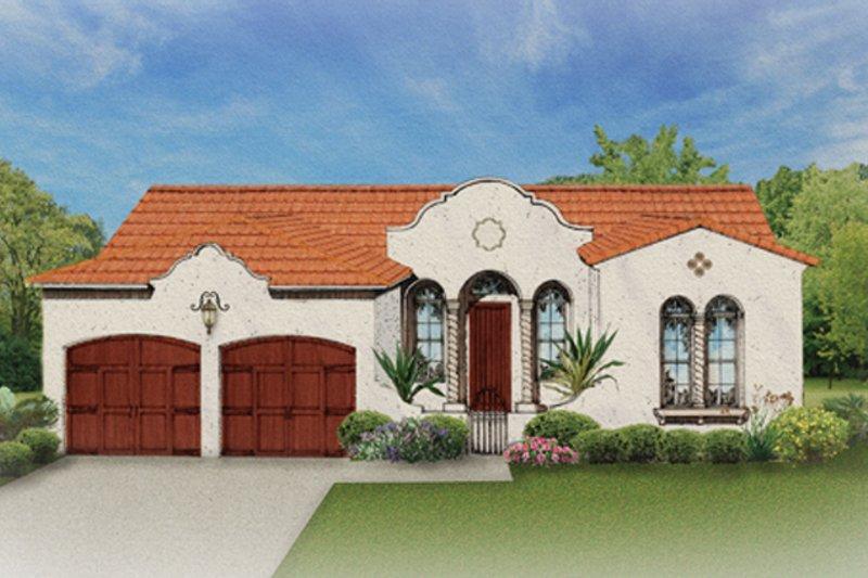 House Design - Mediterranean Exterior - Front Elevation Plan #1058-2