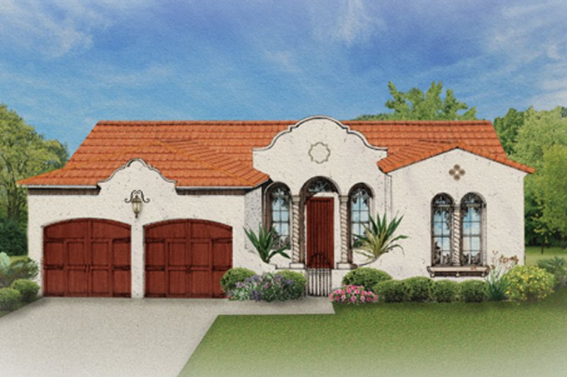 House Plan Design - Mediterranean Exterior - Front Elevation Plan #1058-2