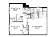 Country Style House Plan - 4 Beds 4.5 Baths 3708 Sq/Ft Plan #1058-80 Floor Plan - Upper Floor Plan