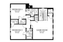 Country Floor Plan - Upper Floor Plan Plan #1058-80