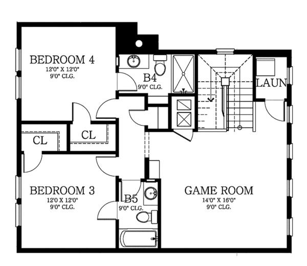 Architectural House Design - Country Floor Plan - Upper Floor Plan #1058-80