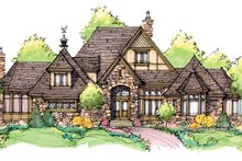 Home Plan - Tudor Exterior - Front Elevation Plan #929-947