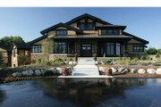 Prairie Style House Plan - 4 Beds 4 Baths 8077 Sq/Ft Plan #928-62 Exterior - Front Elevation