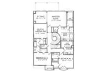 Mediterranean Floor Plan - Upper Floor Plan Plan #1021-14