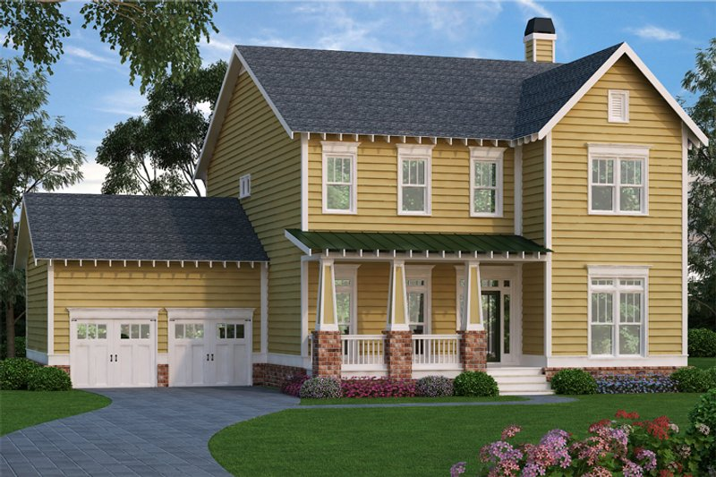 Dream House Plan - Farmhouse Exterior - Front Elevation Plan #419-258