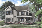 Farmhouse Style House Plan - 4 Beds 2.5 Baths 2260 Sq/Ft Plan #17-286 Exterior - Front Elevation