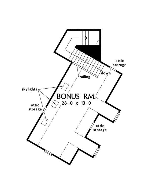 European Floor Plan - Other Floor Plan Plan #929-966