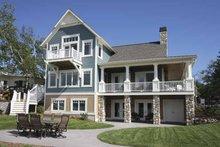 House Plan Design - Traditional Exterior - Rear Elevation Plan #928-44