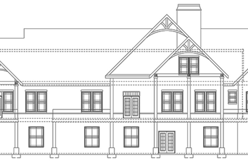 Craftsman Exterior - Rear Elevation Plan #119-424 - Houseplans.com