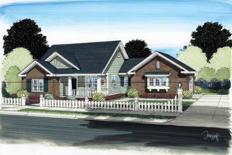 House Plan Design - Traditional Exterior - Front Elevation Plan #513-2122