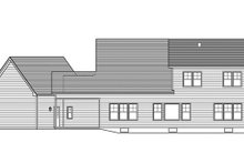 Craftsman Exterior - Rear Elevation Plan #1010-110