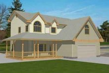 Home Plan - Traditional Exterior - Front Elevation Plan #117-235