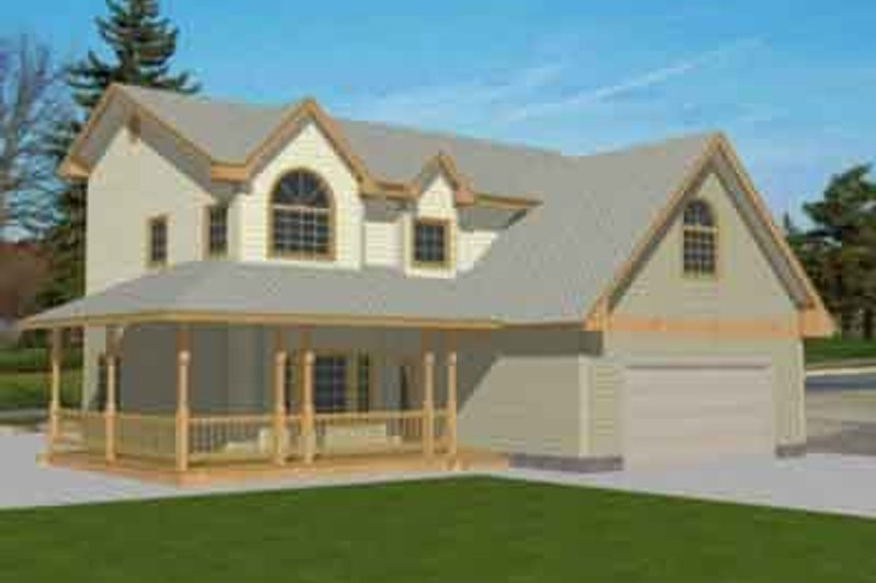 Traditional Exterior - Front Elevation Plan #117-235 - Houseplans.com