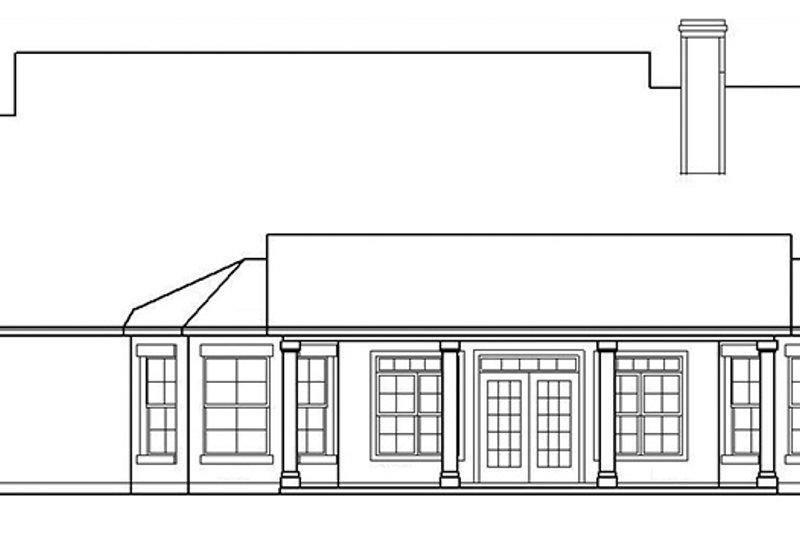 Country Exterior - Rear Elevation Plan #472-248 - Houseplans.com