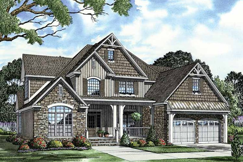 Country Exterior - Front Elevation Plan #17-2678 - Houseplans.com