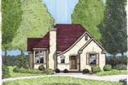 European Style House Plan - 3 Beds 2 Baths 1621 Sq/Ft Plan #410-131 Exterior - Front Elevation