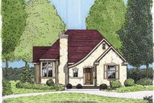 Home Plan - European Exterior - Front Elevation Plan #410-131