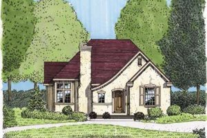 European Exterior - Front Elevation Plan #410-131