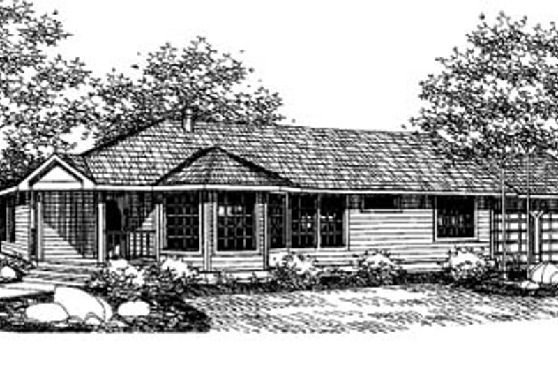 Traditional Exterior - Front Elevation Plan #60-434 - Houseplans.com