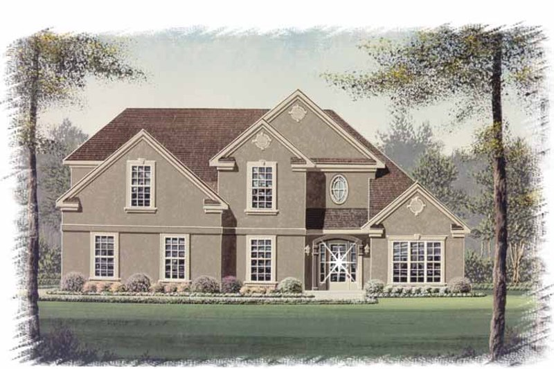 Traditional Exterior - Front Elevation Plan #15-333 - Houseplans.com