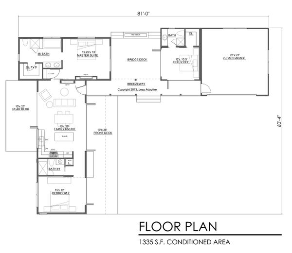 Contemporary Floor Plan - Main Floor Plan Plan #484-7