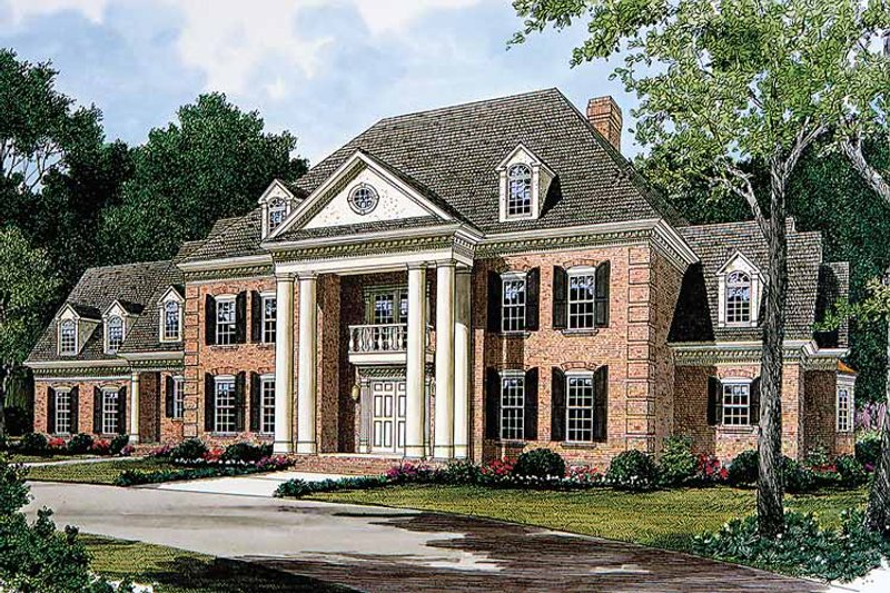 Classical Exterior - Front Elevation Plan #453-143