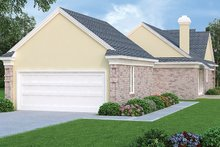 Dream House Plan - Ranch Exterior - Rear Elevation Plan #45-536