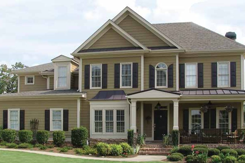 Home Plan - Country Exterior - Front Elevation Plan #54-336
